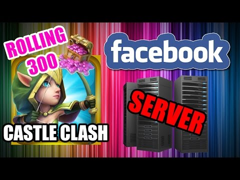 Castle Clash - FACEBOOK SERVER - ROLLING 300 GEMS :)