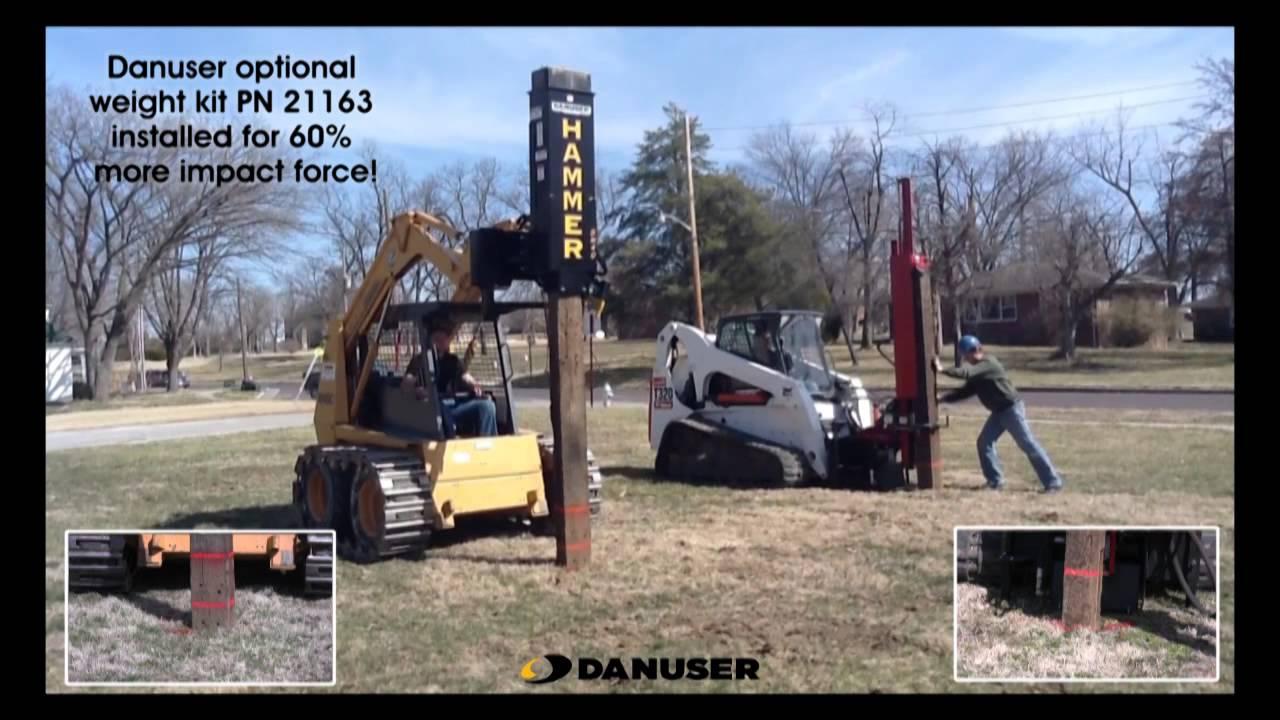 Danuser Hammer Driving Railroad Tie Youtube