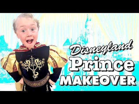 Prince Makeover at Disneyland's Bibbidi Bobbidi Boutique! ~ Cute Boy's Halloween Costume