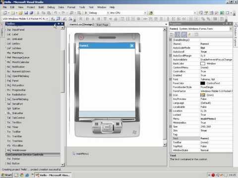Windows Mobile Vídeo 6 Hello World - Wellington Pinto de Oliveira