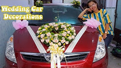 Wedding Car Decorations | How to do Heart shape with Rose Flower ?