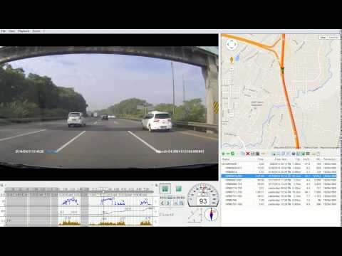 Hewlett Packard F210 Dashcam Test Drive In Jakarta, Indonesia (RegistratorViewer - Screen Capture)