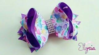 Boutique Victoria Ribbon Bow Tutorial 🎀 DIY by Elysia Handmade