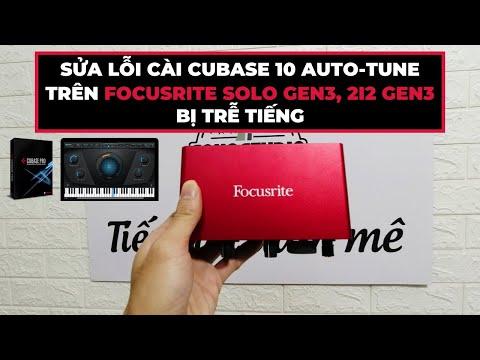 ❎ Sửa Lỗi Trễ Tiếng Khi Cài Cubase 10 Với Focusrite solo, 2i2 Gen 3