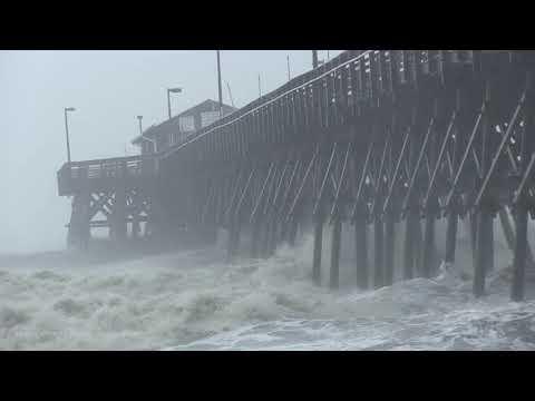 09-05-19 - Garden City Beach, SC - Huge Waves Pound Pier