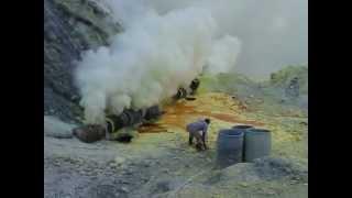 Kawah Ijen Sulphur mine
