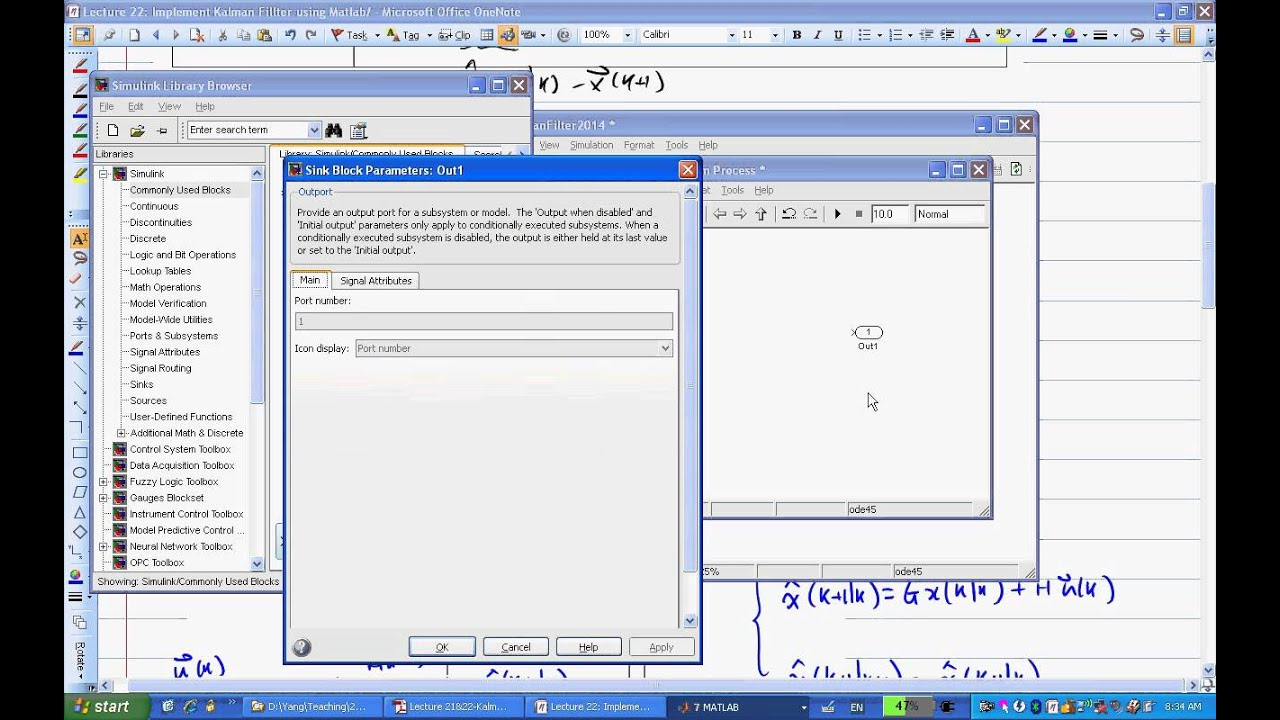 ENGR487 Lecture22 Discrete Kalman Filter Implementation using Simulink  (Part I)