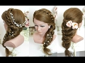 2 cute and easy hairstyles for long hair tutorial