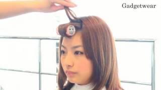 Repeat youtube video 【Hair Arrange】マジックカーラーでふんわり斜め前髪を作る方法 - 第12回