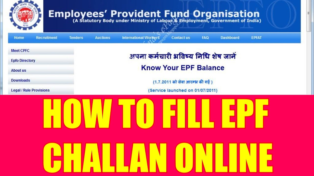 Epf challan form free download.