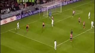 2007-2008 PSV Eindhoven - Tottenham Hotspur (UEFA Cup - Round of 16 - First Half Highlights)