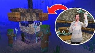 Building An Infinite Trident Farmer On Hardcore!   Minecraft