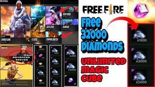 Diamonds and magic cube in free fire advanced server tricks tamil