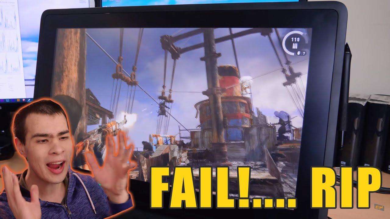 FPS Games on a Wacom Cintiq.... What a FAIL!