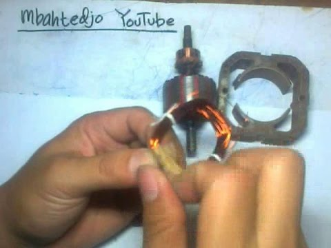 Cara Gulung Lilitan Spul Dinamo Blender 220v Part2 Youtube