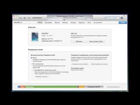 Вопрос: Как сделать резервную копию данных на iPad?