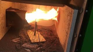 Test bruciatore pellet 24 kW