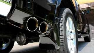 11 titan custom borla exhaust setup underside check out my other videos for the sound