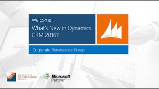 Whats New in Dynamics CRM 2016
