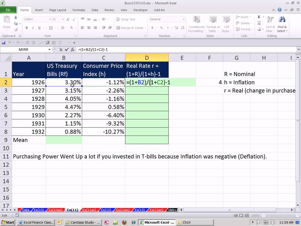 how to calculate rate of change in excel