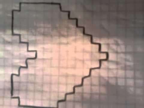 рисование по клеточкам сердце