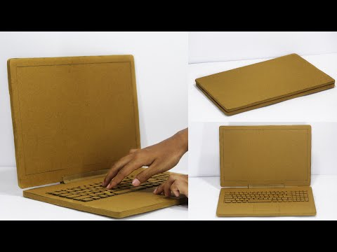 How to Make a laptop from cardboard   DIY at Home