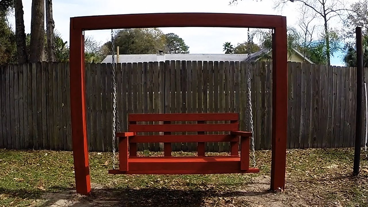 Diy Simple Easy Cheap Porch Bench Swing With 2x4'