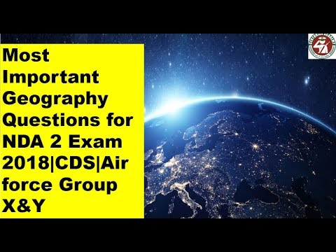 Most Important Geography Questions For NDA Exam 2018|CDS|Air Force Group X&Y