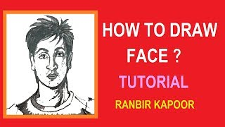 How to draw a face of Bollywood Star RANBIR KAPOOR | Sudipan Roy's Art