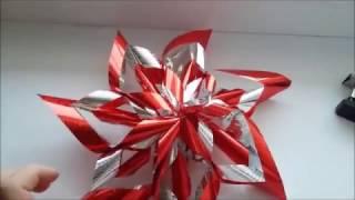 Новогодняя гирлянда своими руками из упаковочной бумаги