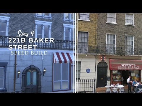Sims 4 - 221B Baker Street Speed Build