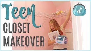 BUDGET CLOSET ORGANIZATION! 💟 Teen/Tween Room Makeover