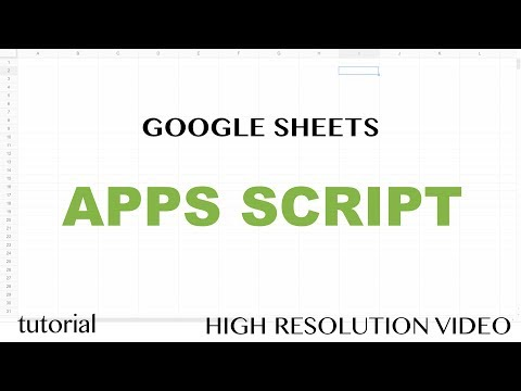 App Script Editor Tutorial – Google Sheets – Excel VBA Equivalent – Read & Write to Ranges & Cells