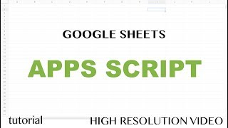 App Script Editor Tutorial - Google Sheets - Excel VBA Equivalent - Read & Write to Ranges & Cells