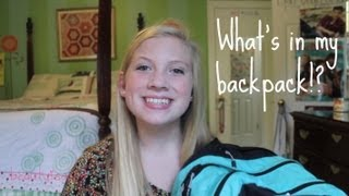 What's in my Backpack?!