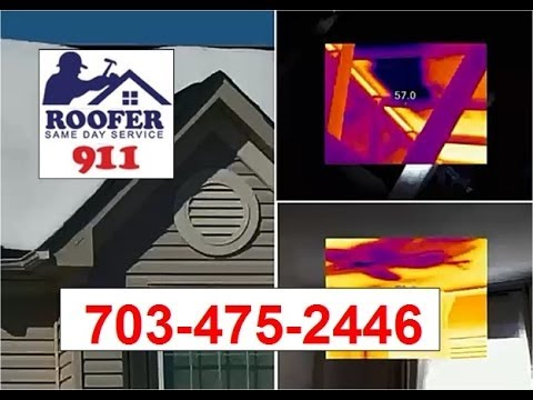 Melting Snow Roof Leak Repair, Leesburg VA   Roofer911