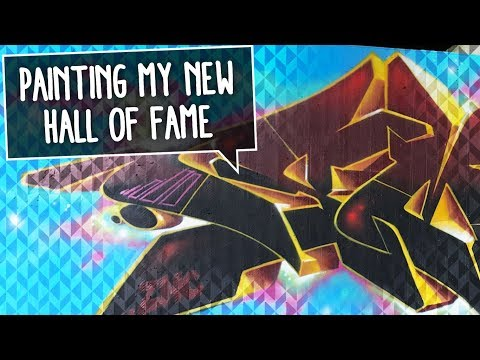 PAINTING GRAFFITI ON MY OWN NEW WALL | Smoe & Kier