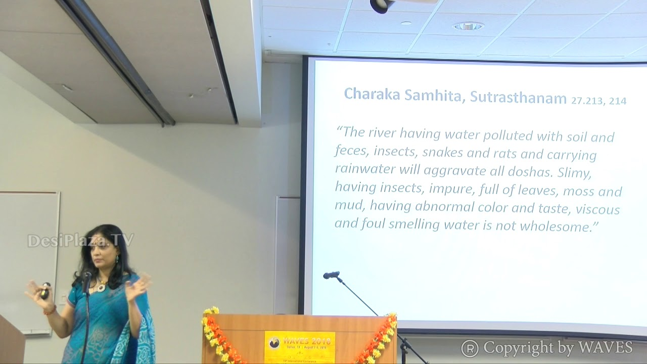 Ms Sahana Singh's talk on Indic hygiene/Sanitation at WAVES  Dallas, Texas - 2018.