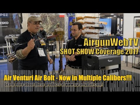 Air Venturi at Shot Show 2017 HPA Compressor, Kral Bullpup – Game Changing Airgun Products!