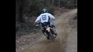 When a russian rider is late- Husqvarna te 300 full throttle