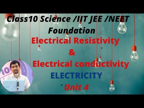 Class 10 Science | ELECTRICAL RESISTIVITY & ELECTRICAL CONDUCTIVITY | Electricity