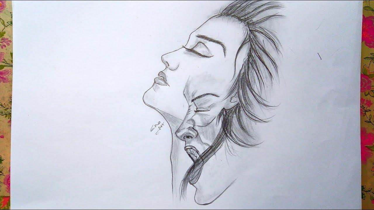 رسم سهل بالرصاص سلسلة الرسوم التعبيرية 2 Youtube