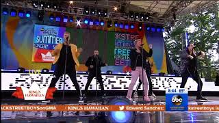 Backstreet Boys perform 'Don't Go Breaking My Heart' on Good Morning America