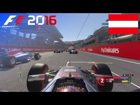 F1 2016 - 100% Race at Red Bull Ring, Austria in Verstappen's Red Bull