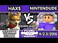 Pound 2016 - Nintendude (Ice Climbers) Vs. Hax (Fox) - Winners Quarters - SSBM