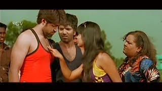 Radhika Pandit Kiss Yash to Win in Kabaddi Game | RockingStar Yash Comedy Scenes from Kannada Movies