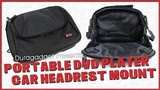 Duragadget - 'Universal Car Headrest Mount/Storage Bag for Portable DVD Players'