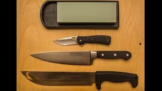 простая заточка ножа на водном камне (240/800)