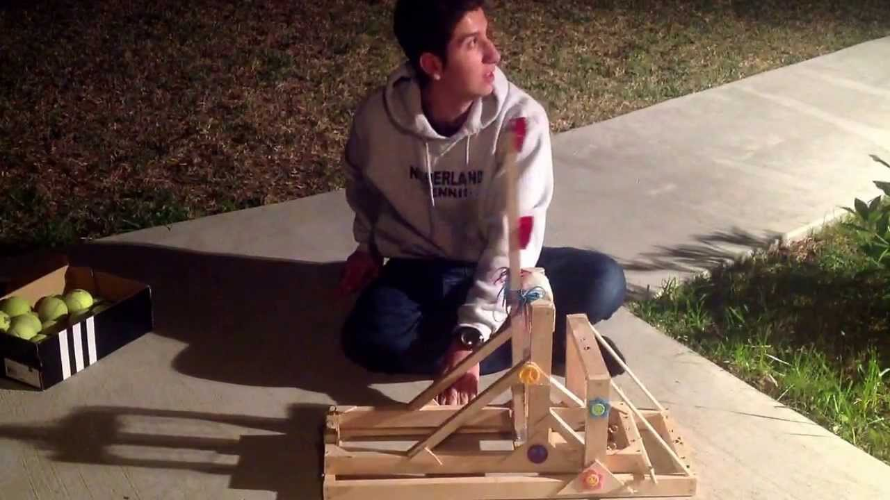 How To Build A Very Cheap Yet Very Powerful Catapult
