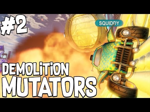 EXPLOSIVE PLAYS!! #2 - ROCKET LEAGUE!! - DEMOLITION MUTATOR!!